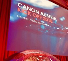 """Canon"" Kick Off \\ Kunde: redline Enterprise GmbH \\ Venue: Ottakringer Brauerei, Wien \\ Leistungen: Medien- & Multimediatechnik"