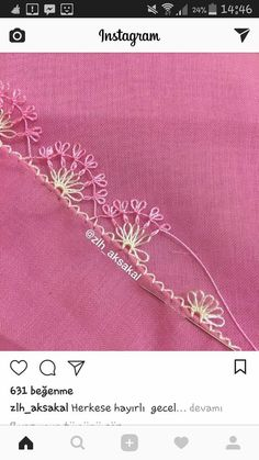 This Pin was discovered by Gül Hand Embroidery Stitches, Embroidery Designs, Needle Lace, Tatting, Elsa, Diy And Crafts, Hair Accessories, Instagram, Jewelry