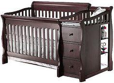 Sorelle Princeton 4-in-1 Convertible Crib with Changer - Espresso