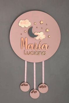 Custom baby girl Nursery decor wooden name sign pink theme room decor hanging wall art name s Wooden Name Signs, Wooden Names, Baby Girl Nursery Decor, Baby Decor, Nursery Room, Baby Mobile, Pink Themes, Birthday Gifts For Kids, Baby Birthday