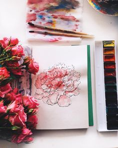 spring mood because it's gonna be +1° on Thursday, you're doing great March • • • • • #sketch #art #artwork #artist #sketchbook #traditionalart #illustration #design #nature #flowers #watercolor #ink #drawing #painting #doodle #tattoo #tattoodesign #floral #flowertattoo