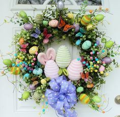 Easter Wreath Spring Wreath with Easter Eggs