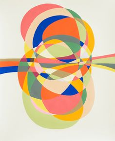 """Jessica Snow, """"In One Ear, Out the Other,"""" acrylic on paper Snow Artist, Color Studies, Geometric Art, Op Art, Beautiful Artwork, Amazing Art, Illustration Art, Artsy, Fine Art"""