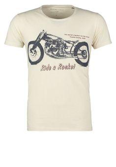 Selected Homme - SALT FLATS - T-Shirt print - white asparagus