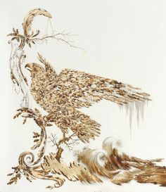 Glimmering Gold Drawings Symbolize Pollution in Nature - feed2know