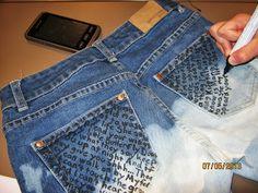 KÄSSÄÄ PALOKASSA/redo jeans