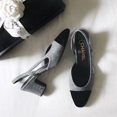 chanel slingbacks #shoesoftheday #chanel @pamhetlinger