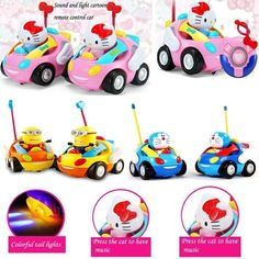 new children electric cartoon remote control car with music baby kids toys birthday for gift