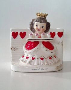 Vintage NAPCO Queen of Hearts Planter/S1493F/1956 by CZamore, $32.00