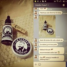 Thanks to Bro Hendra for buying ✯ JIM REBORN ✯ BEARD GROWTH OIL & MUSTACHE WAX #JimReborn #Gentleman's # Grooming #cambang #jenggot #kumis
