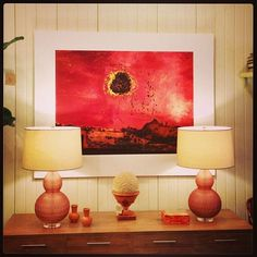 Add #color to your #walls with this #painting and #lamps at #Chicago #mecox #interiordesign #mecoxgardens #furniture #shopping #design #decor #home #designidea #room #vintage #antiques #garden #dresser #wallart