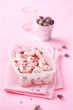 Meringue powder is widely used for making icing and as a topping on pies. Hence, read on to know more on meringue powder substitute. Rose Meringue Cookies, Food Photography Tips, Light Photography, How To Make Icing, Meringue Powder, Biscuits, Pink Foods, Strawberry Ice Cream, No Bake Treats