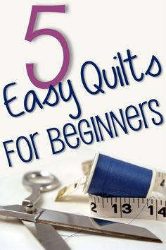 5 Easy Quilt Ideas for Beginners or those of us that know how but are lazy :} - Click image to find more diy & crafts Pinterest pins
