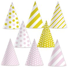 Pink and Gold Party Hats (8)