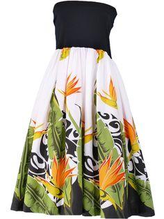 Hula Tube Top Dress with Bird of Paradise