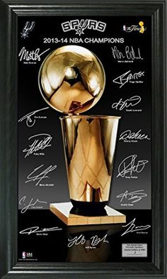 """New Items online shopping for the sports fan.San Antonio Spurs 2014 NBA Finals Champions """"Trophy"""" Signature Photo"""