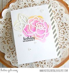 Card by SPARKS DT Katie Gehring PS stamp set: Lovely Thoughts; PS dies: Roses