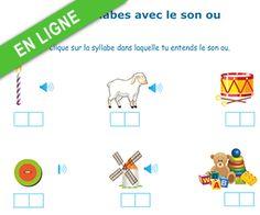 http://apprendrealire.net/son-ou Lecture, le son ou dans une syllabe