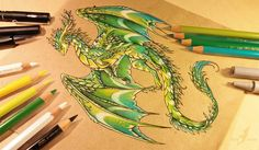 Dragon and other Mythical Fantasy Drawings Fantasy Drawings, Fantasy Artwork, Dragon Sketch, Dragon Drawings, Dragon Artwork, Fantasy Dragon, Baby Dragon, Beautiful Drawings, Magical Creatures
