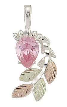 Black Hills Gold Sterling Silver Pink Ice Pendant Black Hills Gold Factory Outlet Store. $69.99