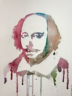 William Shakespeare, my favourite playwright - innovative portrait!
