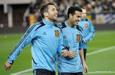 Jordi Alba and Pedro