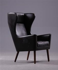 Steffen Syrach-Larsen; Rosewood and Leather Lounge Chair for Gustav Bertelsen, 1960s.