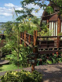 Hotel Mirante do Gavião, na Amazônia, tem paisagismo surpreendente