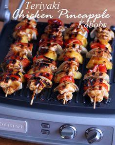 Teriyaki Chicken Pineapple Kabobs recipe easy grilling