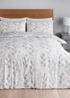 Charlotte Floral Duvet Quilt Cover Polycotton Printed Bedding Set All Sizes