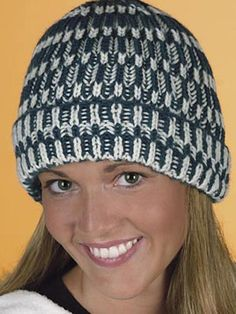 This Shaker Rib Hat reminds us of the trendy caps we are seeing everywhere! Get your free hat knitting pattern to create one for your hipster. Freepatterns.com