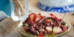 Με μεράκι Sweets Recipes, Greek Recipes, Tasty Dishes, Octopus, Food Styling, Shrimp, Seafood, Cabbage, Salads