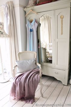 Bedroom Style With The French Bedroom Company - beautiful muted pastel shades, vintage bedroom, painted furniture, French style shabby chic bedroom