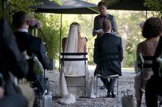 Outside Ceremony - Under the Pergola- French Provence Wedding