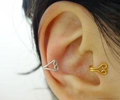 DIY Jewelry DIY Ear Cuffs : DIY Heart Ear And Tragus Cuff