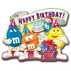 happy birthday M& Happy Birthday Clip Art, Birthday Wishes For Kids, Birthday Clips, Happy Belated Birthday, Happy Birthday Pictures, Birthday Frames, Happy Birthday Quotes, Happy Birthday Greetings, Birthday Greeting Cards