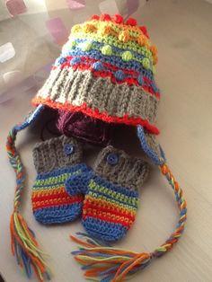 Berretto e guanti neonato per Lorenzo uncinetto crochet lana