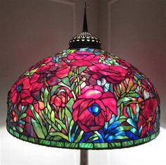 Beautiful Colors, Stained Glass Lamp.