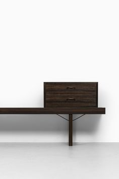 Torbjørn Afdal Krobo bench in rosewood at Studio Schalling