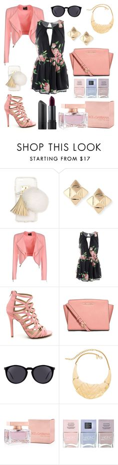 """""""Untitled #318"""" by angelicaaans ❤ liked on Polyvore featuring Ashlyn'd, Valentino, Pinko, MICHAEL Michael Kors, Yves Saint Laurent, Chico's, Dolce&Gabbana, Nails Inc. and Bite"""