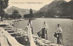 Pavol Socháň: Pri bielení plátna v Stankovanoch (Liptov) 1895-1913, Slovenská národná galéria, SNG