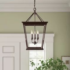 Darby Home Co Hartwell Lantern Pendant Empire Chandelier, Lantern Chandelier, Lantern Pendant, Pendant Lights, Breakfast Nook Table, Classic Lanterns, Farmhouse Chandelier, Birch Lane, A Table