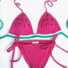 Crochet bikini pink swimsuits 63 new ideas Bikini Rose, Rosa Bikini, Pink Bikini, Crochet Bikini Top, Knit Crochet, Crochet Bathing Suits, Mode Crochet, Pink Swimsuit, Crochet Braids