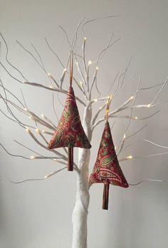 Christmas Decoration, Fabric Tree Decoration, Cinnamon Tree, Christmas Ornaments, Handmade Decorations #treeornament #christmastreedecor #christmas #fabricornament #commissionlink