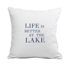 @Overstock - Lake House Throw Pillow - Bring some personality to your getaway with this Lake House throw pillow. Fashioned in a crisp, white canvas covering, this throw pillow will look great just about anywhere in your waterfront home and can easily be washed when needed.    http://www.overstock.com/Home-Garden/Lake-House-Throw-Pillow/9064714/product.html?CID=214117 $38.02