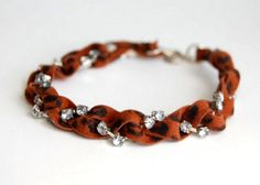 easy DIY bracelet. would do it w/o leopard print