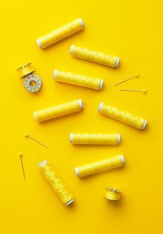 Colorful yellow thread spools over bright yellow background Art Print by Bogdan Dreava - X-Small Yellow Aesthetic Pastel, Rainbow Aesthetic, Aesthetic Colors, Mellow Yellow, Bright Yellow, Colour Yellow, My Favorite Color, My Favorite Things, Yellow Photography