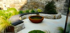 Water Gems used our Buff Sawn Sandstone for this contemporary garden in Edinburgh. It even went on to win a 2014 BALI Award