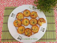 MINI QUICHES DE CALABACIN CON BACON