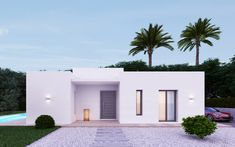 Villa in Jávea - Xàbia Tosalet - 3 Beds 2 Baths / Xabia This villa for sale in Javea is recently completed and… Flat Roof House, Facade House, House Front, Mediterranean Architecture, Mediterranean Homes, Modern Bungalow House, Modern House Design, Contemporary Design, Minimalist Architecture